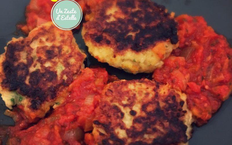 Croquettes de boulgour au brebis Basque et sauce tomate