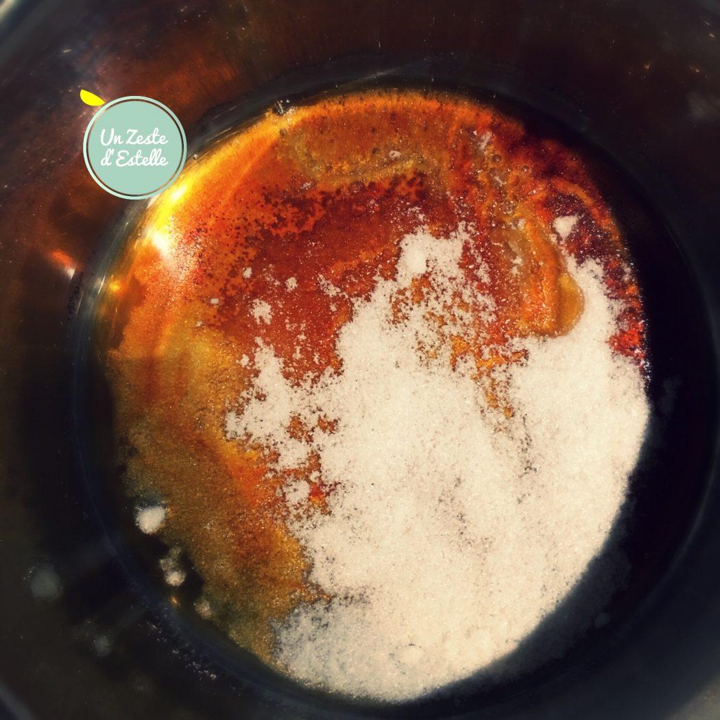 La cuisson du caramel