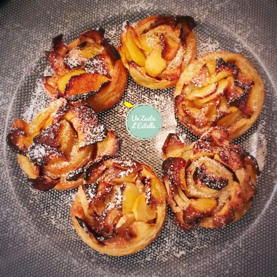 Roses feuilletées aux pommes, sans lactose