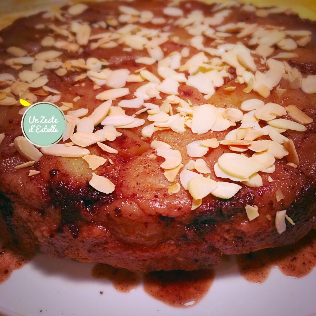 Tarte tatin poires chocolat un zeste d 39 estelle - Tarte poire chocolat sans oeuf ...