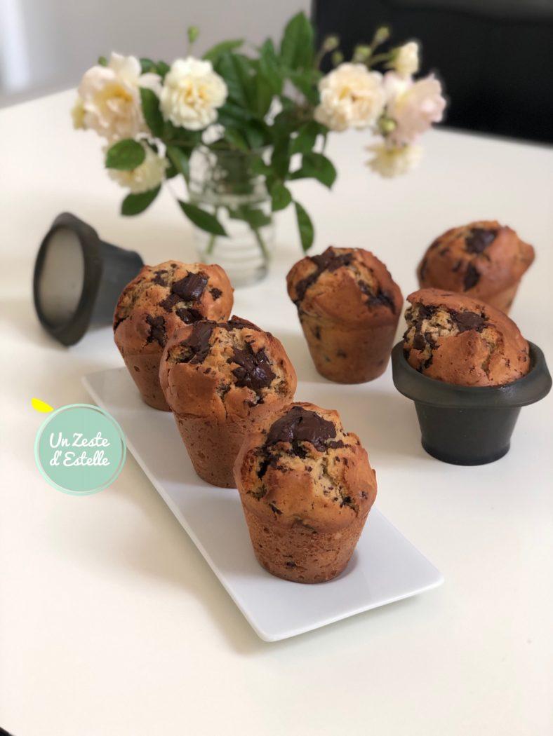 Une autre fournée de muffins chocolat noisettes, sans les caissettes cette fois