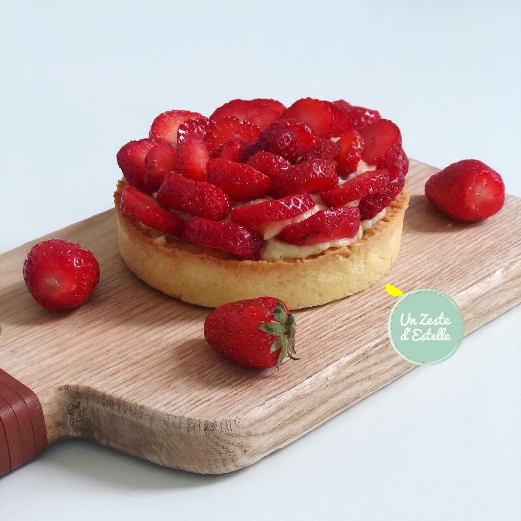 Tarte aux fraises à la crème sans lactose