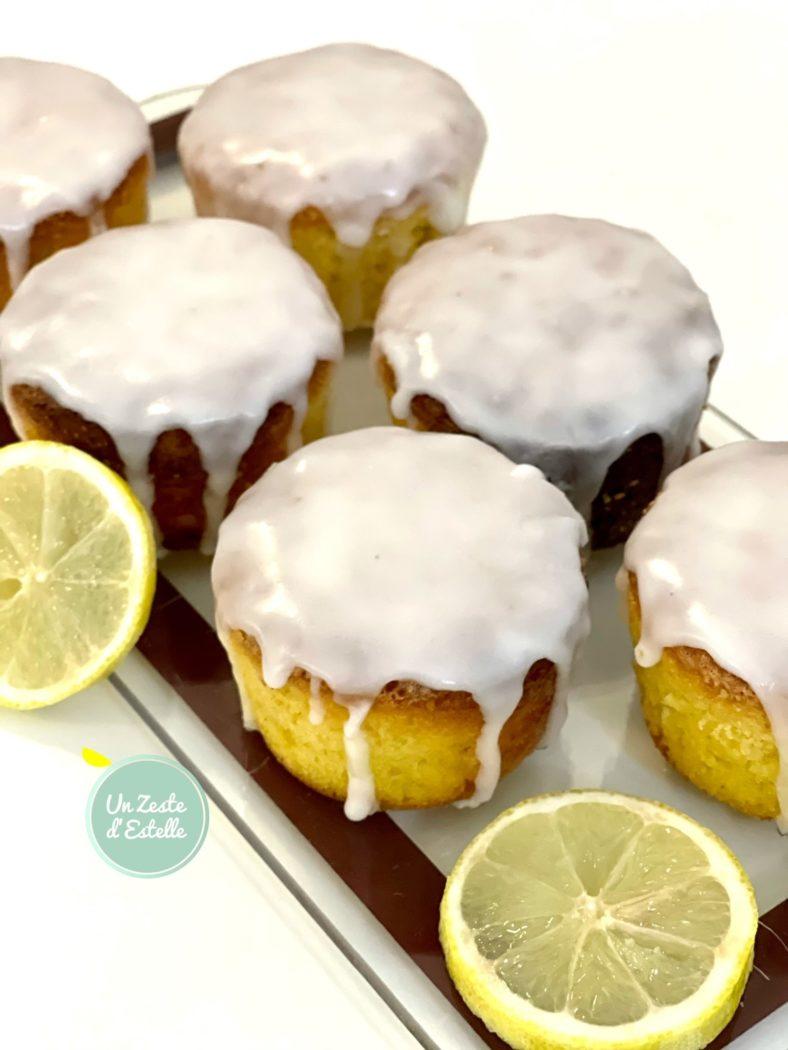Irrésistible glaçage de ces mini cakes au citron sans gluten !