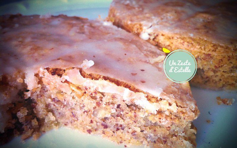 Gâteau Yafa aux amandes glaçage citron