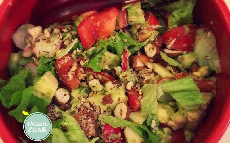 Salade vitaminée et colorée d'Estelle