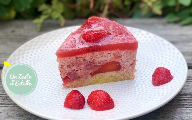 Bavarois fraise rhubarbe si léger